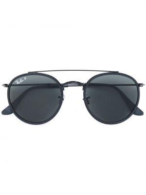 Czarny oprawka do okularów metal okrągły Ray-ban