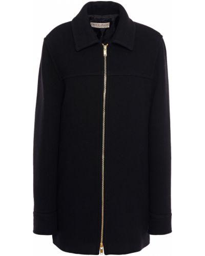 Шерстяное черное пальто двустороннее Emilio Pucci