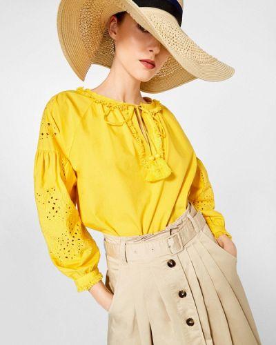 Желтая блузка Pedro Del Hierro