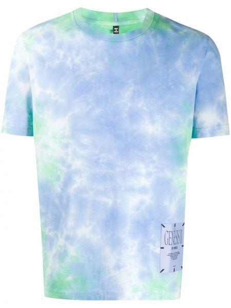T-shirt z printem - niebieska Mcq Alexander Mcqueen