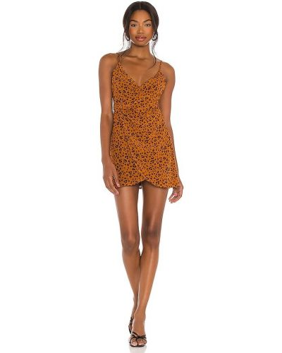 Оранжевое платье мини винтажное с подкладкой Privacy Please
