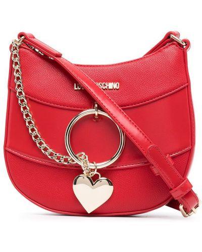 Сумка через плечо - красная Love Moschino