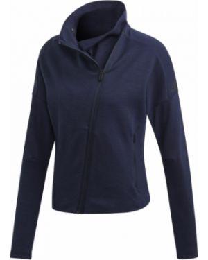 Długa kurtka asymetryczna bawełniana z długimi rękawami Adidas