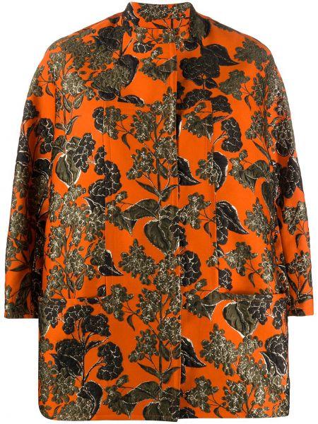 Оранжевый шелковый пиджак с карманами Gianluca Capannolo