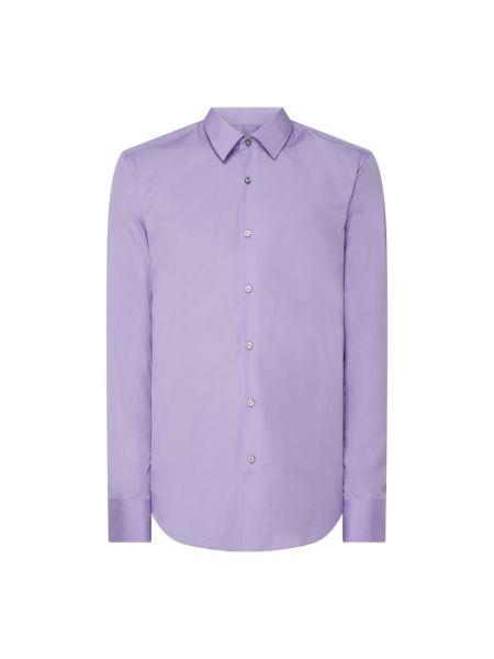 Bawełna fioletowy koszula z mankietami z długimi rękawami Boss
