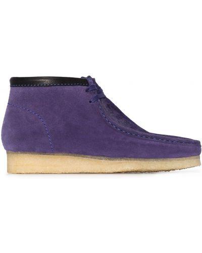 Кожаные ботинки на шнуровке квадратные Clarks Originals