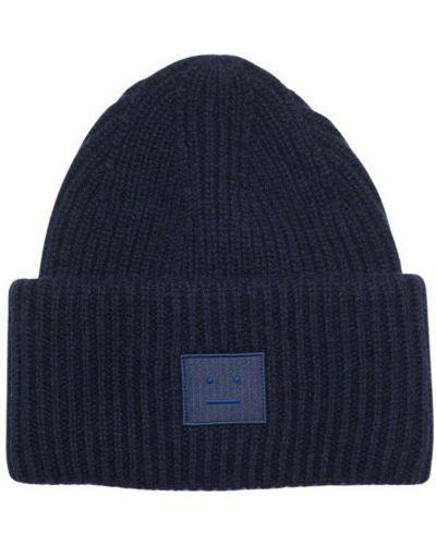 Niebieska czapka beanie Acne Studios