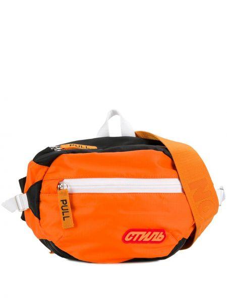 Оранжевая поясная сумка Heron Preston