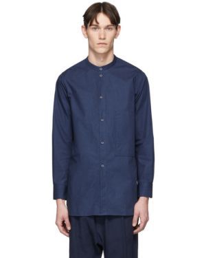 Рубашка с воротником с заплатками с манжетами с карманами Studio Nicholson