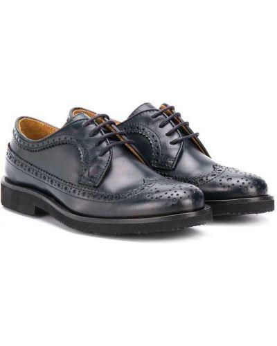 Klasyczny koronkowa skórzany buty brogsy zasznurować Gallucci Kids