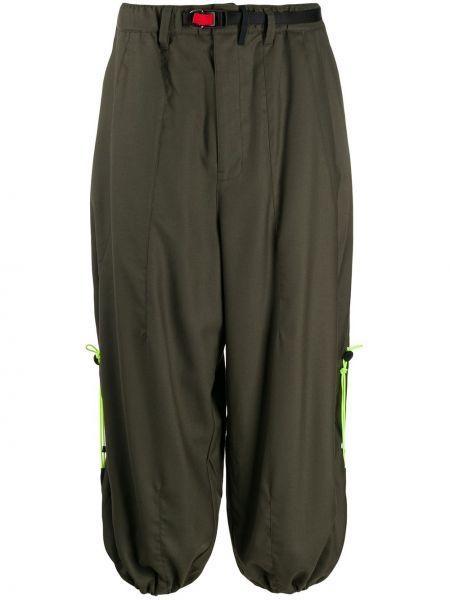 Zielone spodnie bawełniane klamry Poliquant