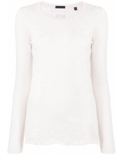 Хлопковая футболка - белая Atm Anthony Thomas Melillo