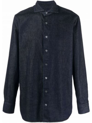 Niebieska klasyczna koszula Lardini