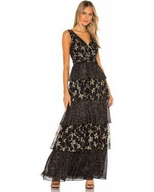Złota czarna sukienka vintage Rachel Zoe