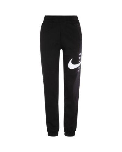 Спортивные флисовые черные спортивные брюки с начесом Nike