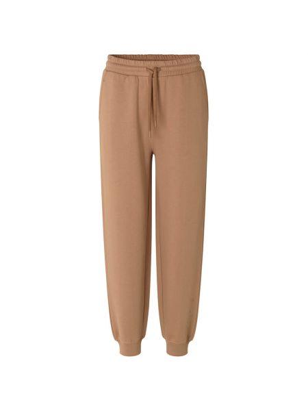 Beżowe spodnie bawełniane Munthe
