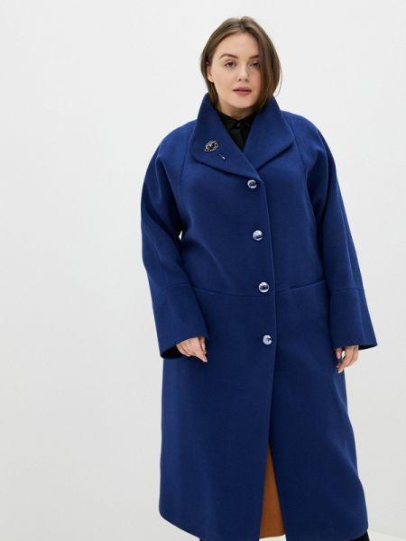 Синее пальто с капюшоном Gamelia