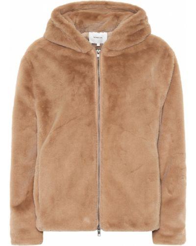 Плюшевая коричневая куртка Vince