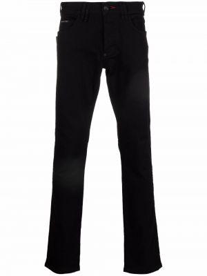 Czarne klasyczne mom jeans Philipp Plein