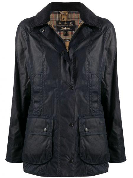 Длинная куртка - синяя Barbour
