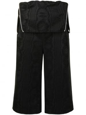 Черные с завышенной талией шорты с поясом Dion Lee