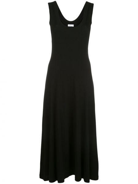 Расклешенное приталенное платье без рукавов с вырезом Rosetta Getty