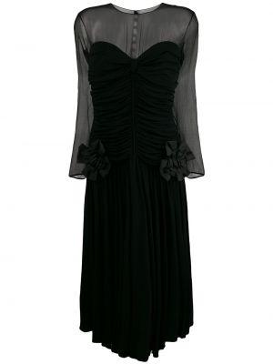 Платье миди с прозрачными рукавами винтажная Nina Ricci Pre-owned