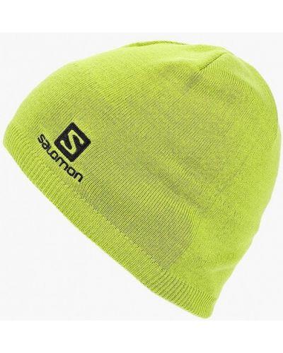 Зеленая шапка осенняя Salomon