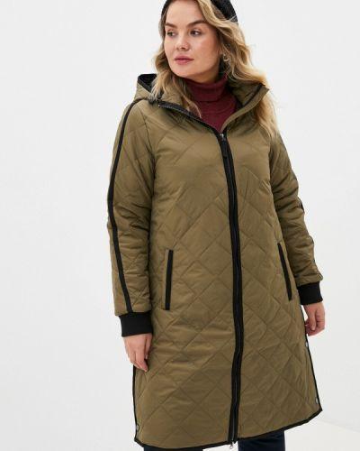 Теплая зеленая утепленная куртка Zizzi