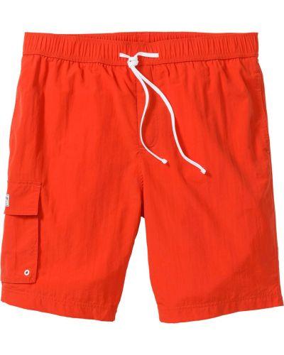 Оранжевые брюки карго с карманами для беременных Bonprix