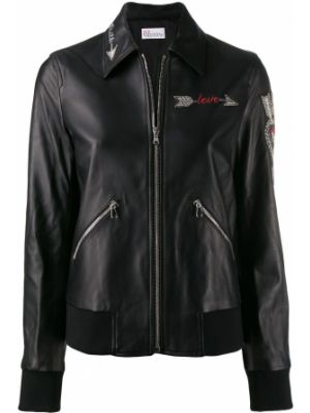 Куртка черная на молнии Red Valentino