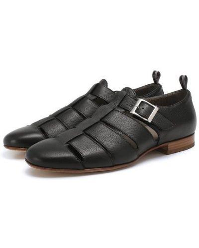 Черные сандалии кожаные Aldo Brue