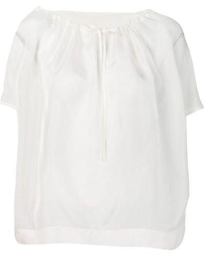 Блузка шелковая белая Knott