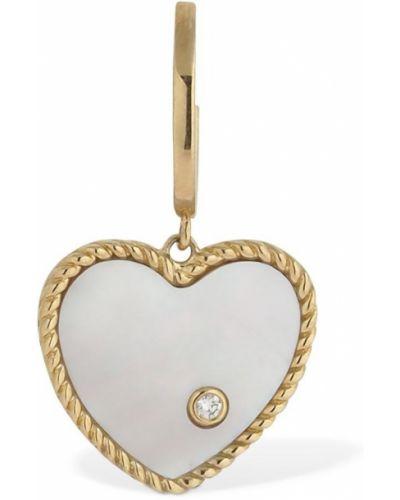 Złote kolczyki perły Yvonne Leon Paris