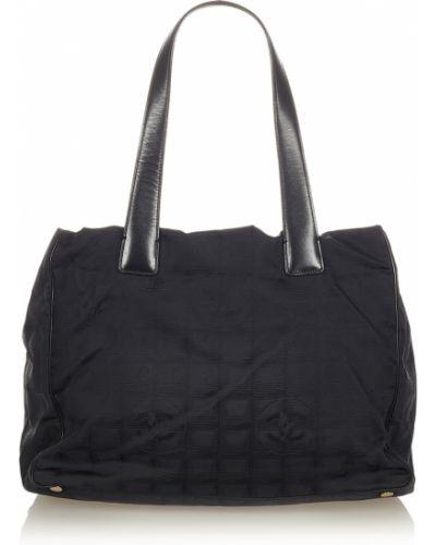 Czarna torba podróżna Chanel Vintage
