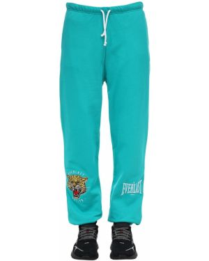 Niebieskie joggery bawełniane Everlast T.e.n.