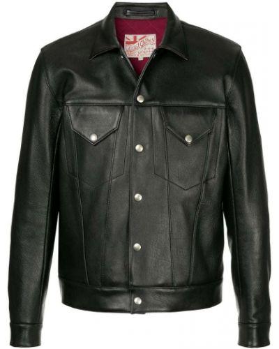 Кожаная куртка черная Addict Clothes Japan