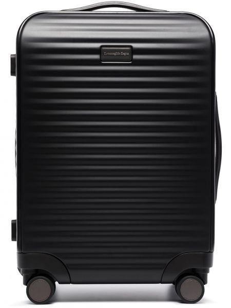 Czarna walizka Ermenegildo Zegna