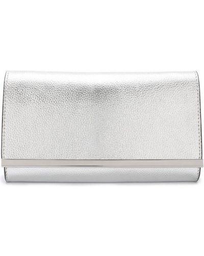 Вечерняя сумка серебряного цвета Coccinelle