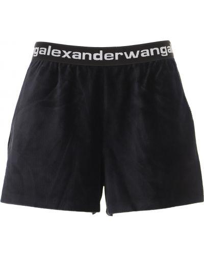 Czarne szorty bawełniane Alexander Wang