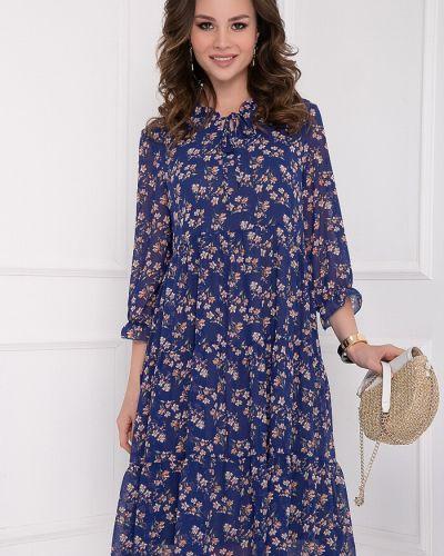 Платье свободного кроя с завязками с принтом с воротником-стойка Bellovera