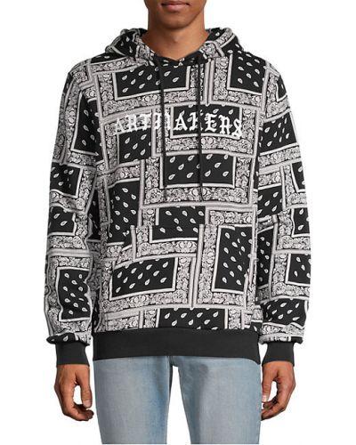 Czarna bluza z kapturem z długimi rękawami Eleven Paris