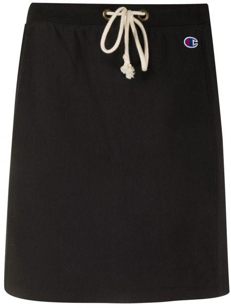 Хлопковая черная плиссированная юбка мини Champion