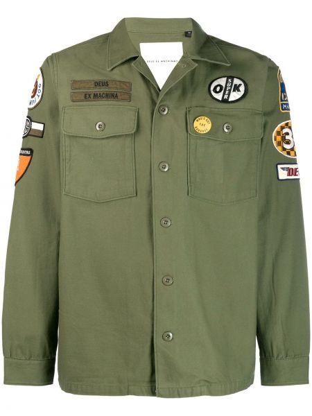 Koszula wojskowy z logo Deus Ex Machina