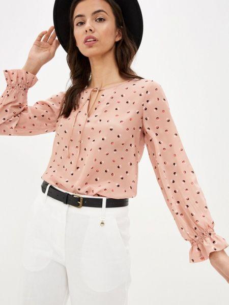 Блузка с длинным рукавом розовая черная Pennyblack