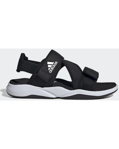 Открытые черные сандалии Adidas