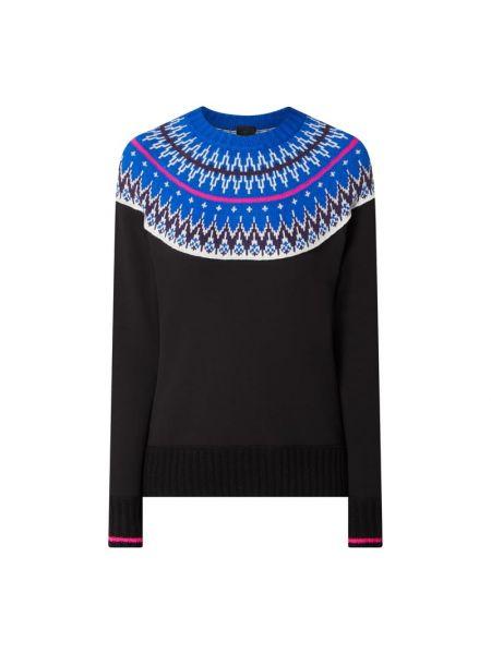 Niebieski sweter wełniany z raglanowymi rękawami Bogner Fire + Ice