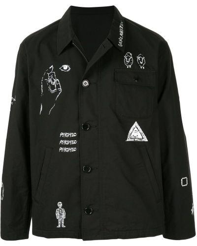 Черная рубашка с воротником Johnundercover
