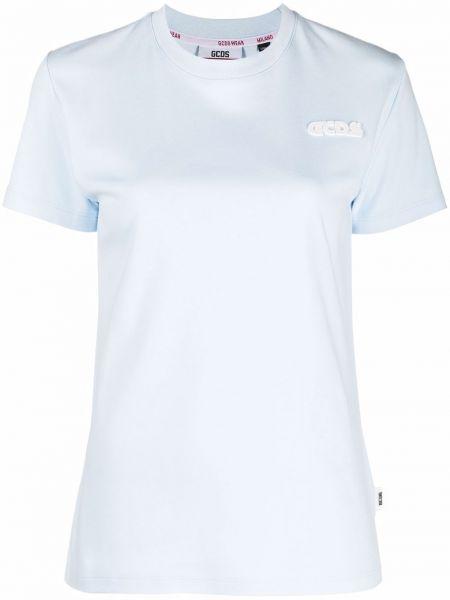 Синяя хлопковая футболка Gcds