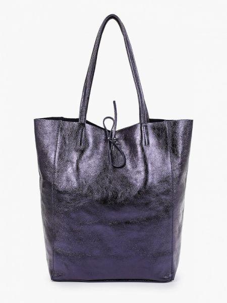 Кожаная сумка шоппер весенний Lamania
